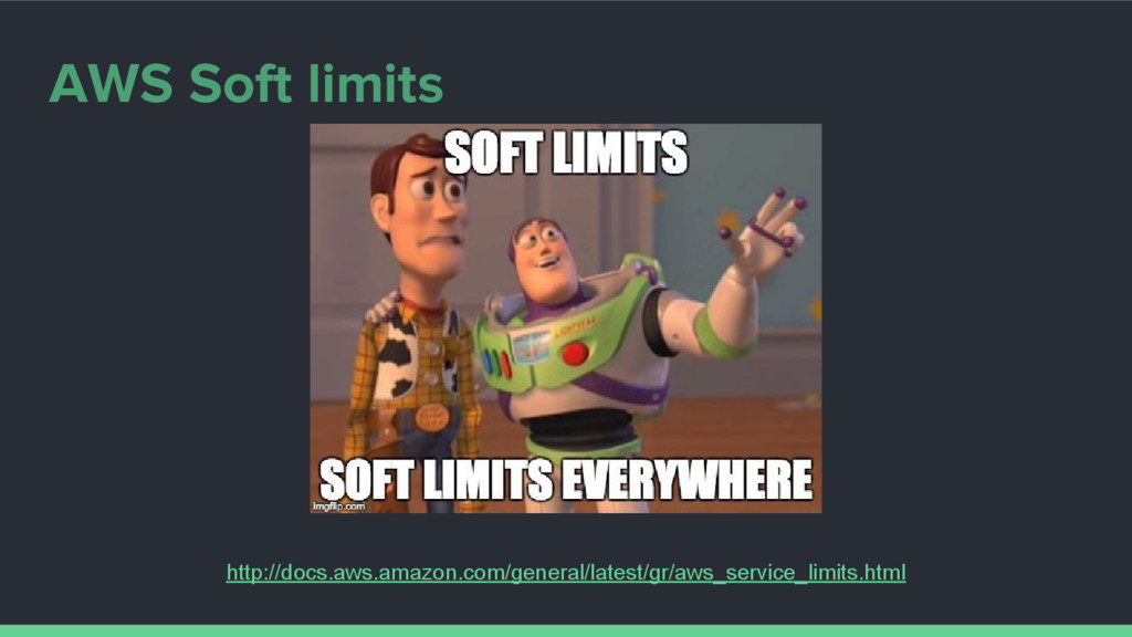 AWS Soft limits http://docs.aws.amazon.com/gene...