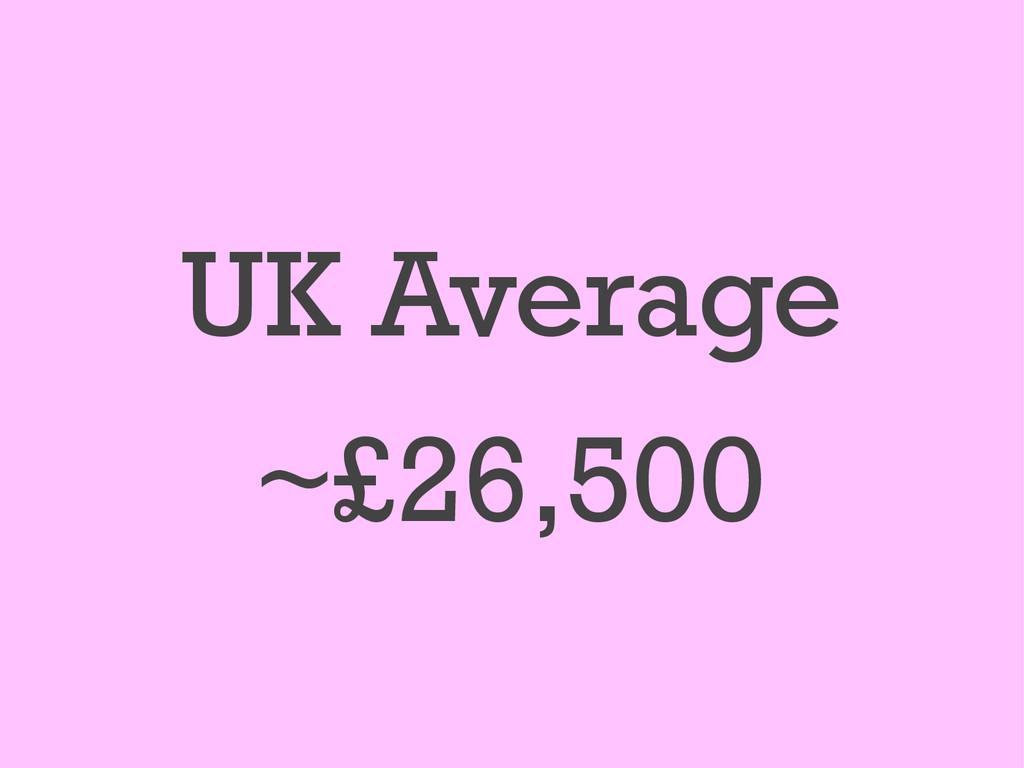 UK Average ~£26,500
