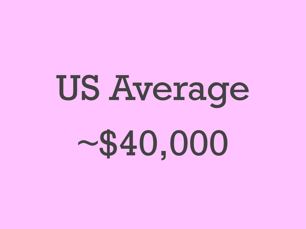 US Average ~$40,000