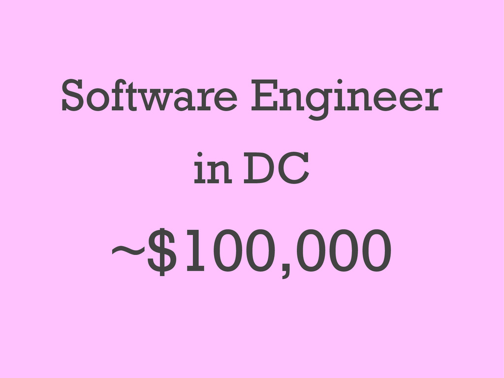 Software Engineer in DC ~$100,000