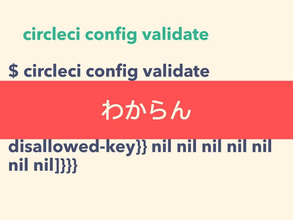 circleci config validate $ circleci config valida...