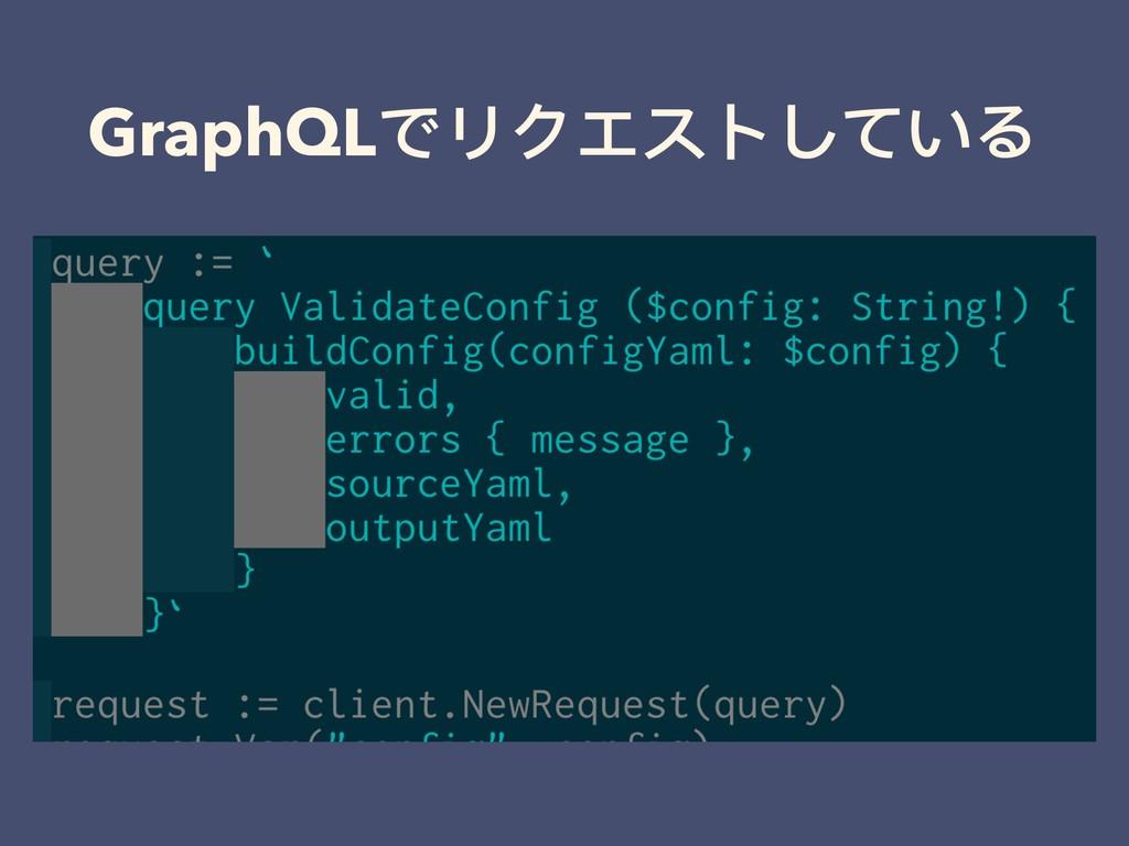 GraphQLでリクエストしている