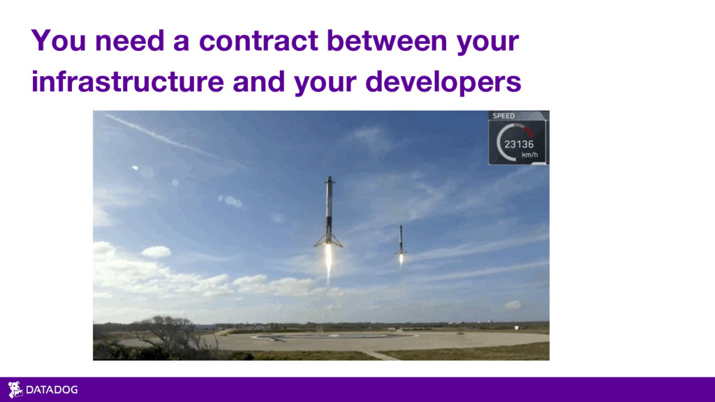 You need a contract between your infrastructure...