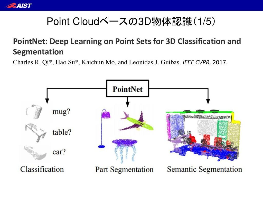 Point Cloudベースの3D物体認識(1/5) PointNet: Deep Learn...
