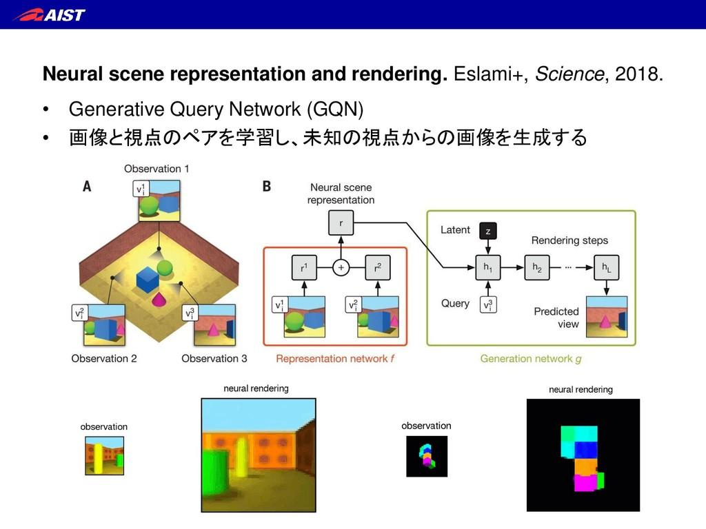 Neural scene representation and rendering. Esla...