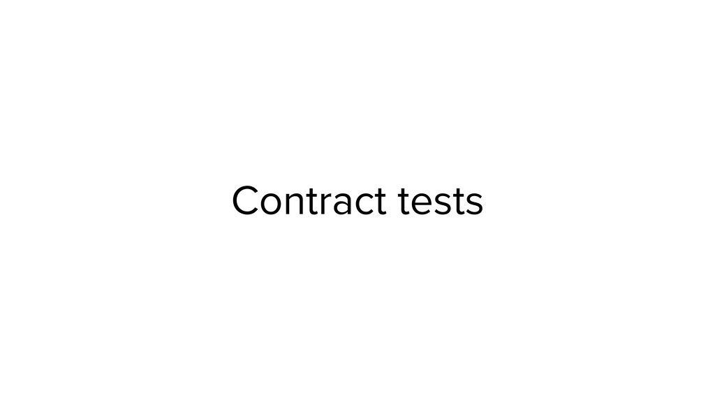 Contract tests
