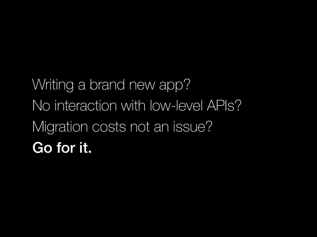 Writing a brand new app? No interaction with lo...