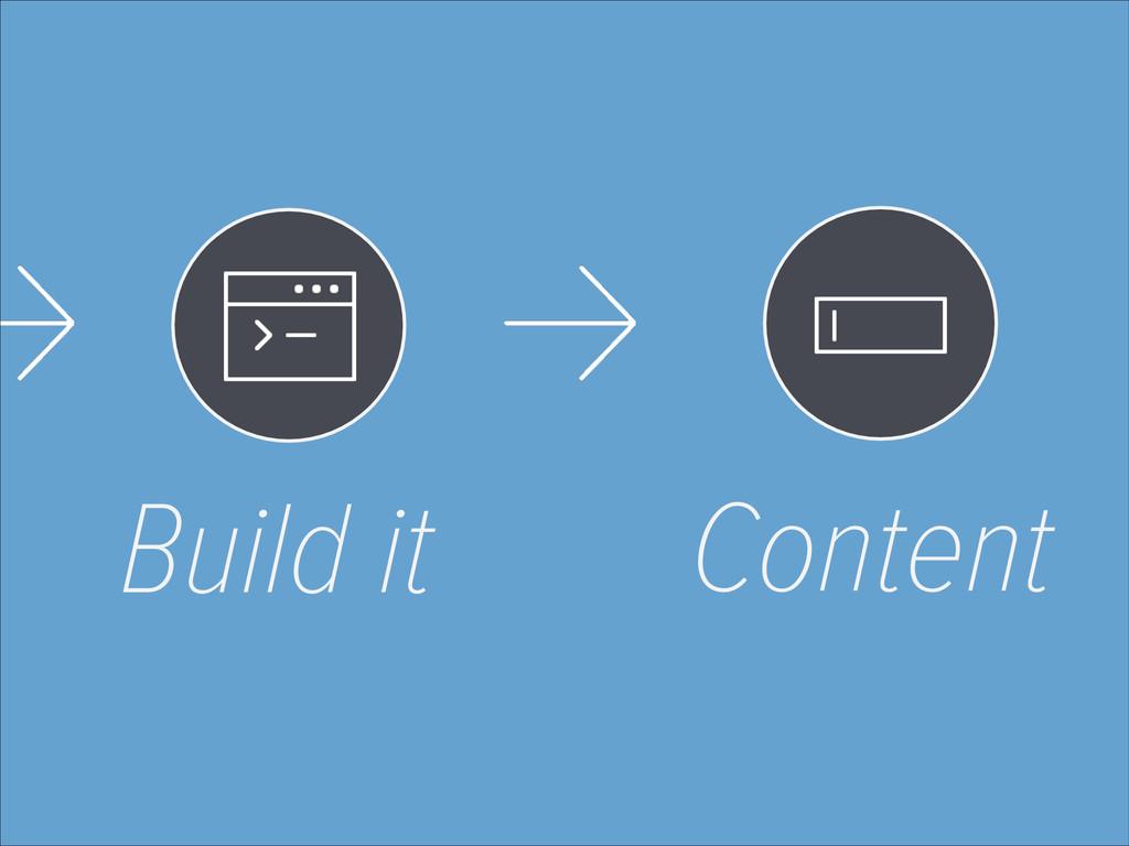 Build it Content