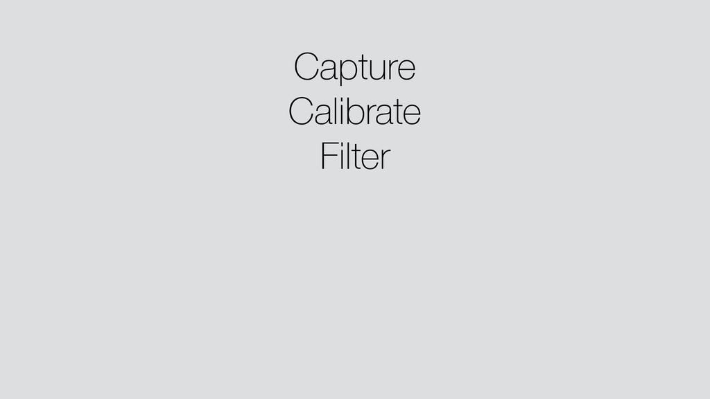 Capture Calibrate Filter ! ! !