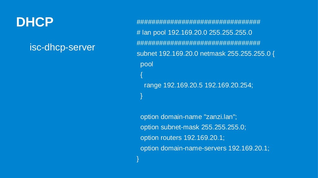DHCP isc-dhcp-server ##########################...