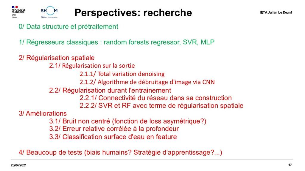 17 28/04/2021 Perspectives: recherche IETA Juli...