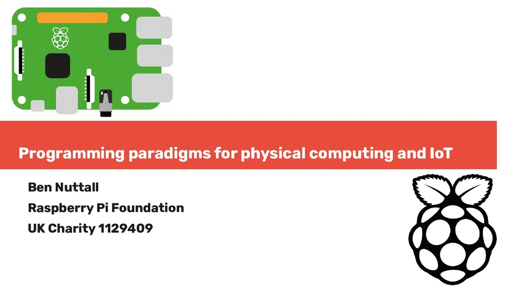 Programming paradigms for physical computing an...