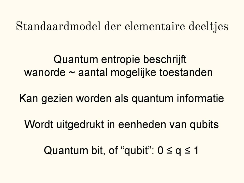 Standaardmodel der elementaire deeltjes Quantum...