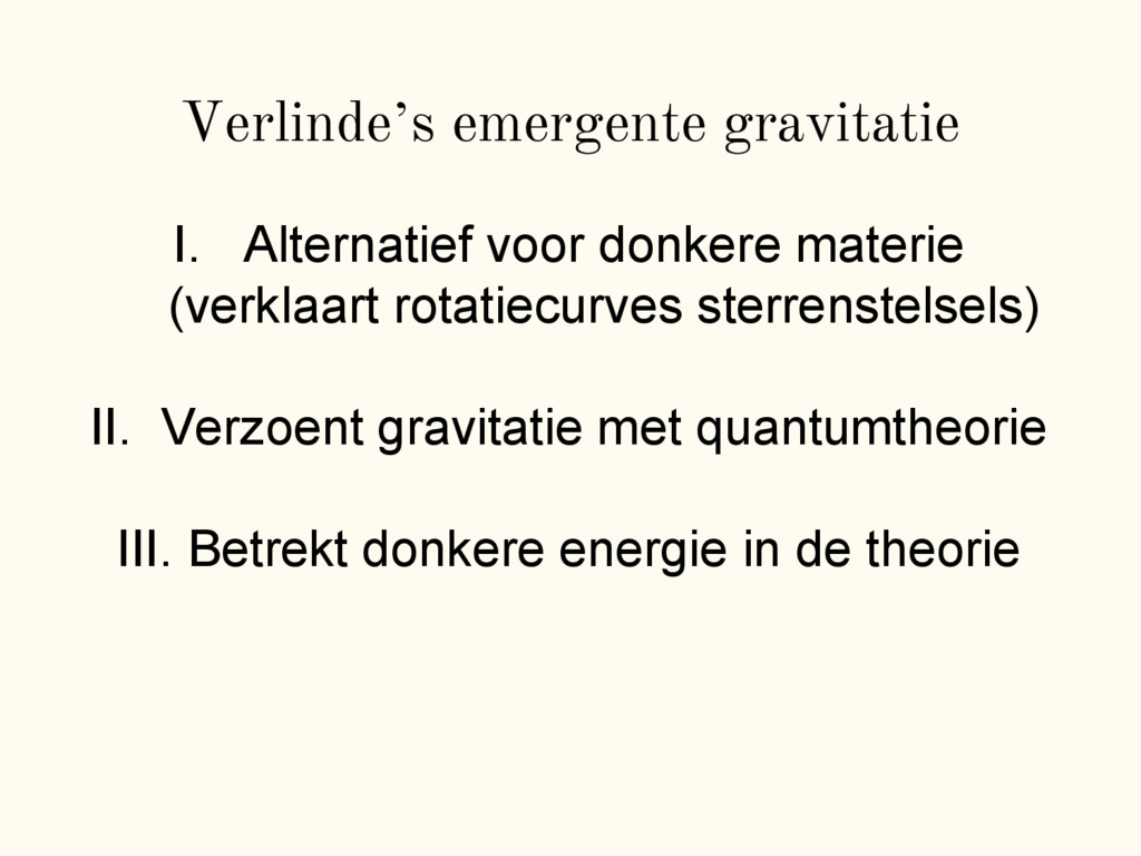 "Verlinde""s emergente gravitatie I. Alternatief ..."