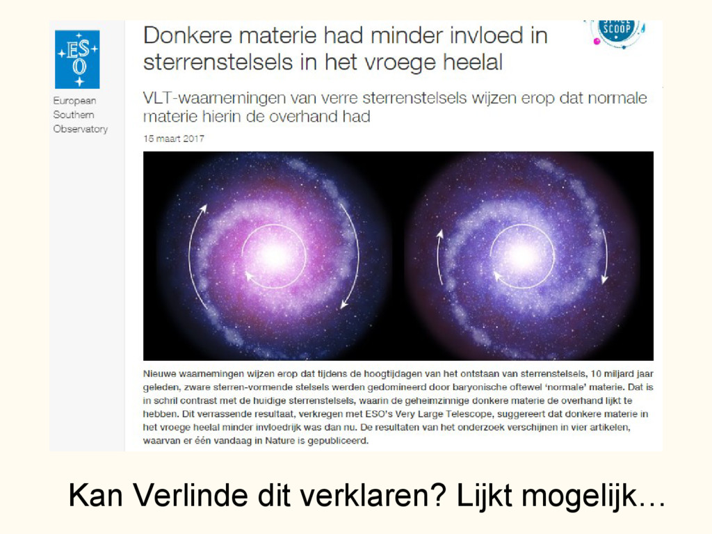 Minder donkere materie in vroege heelal - abs K...