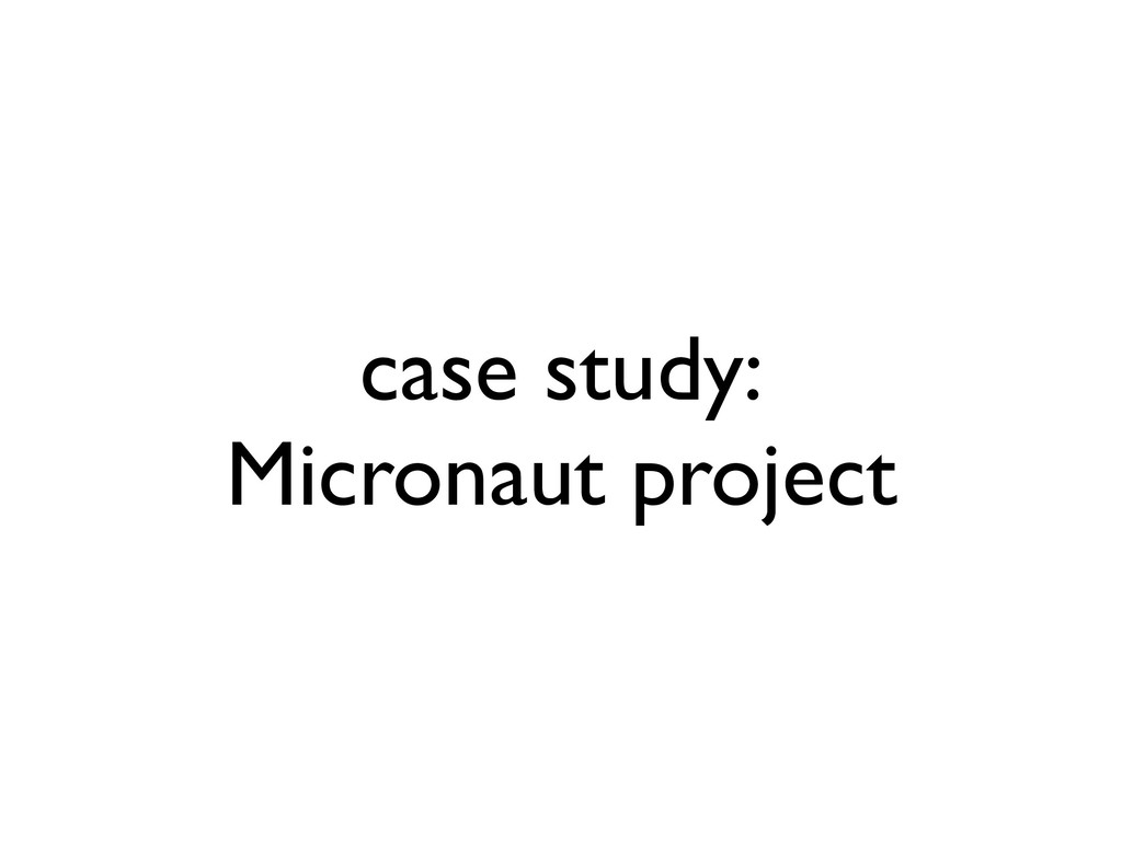 case study: Micronaut project