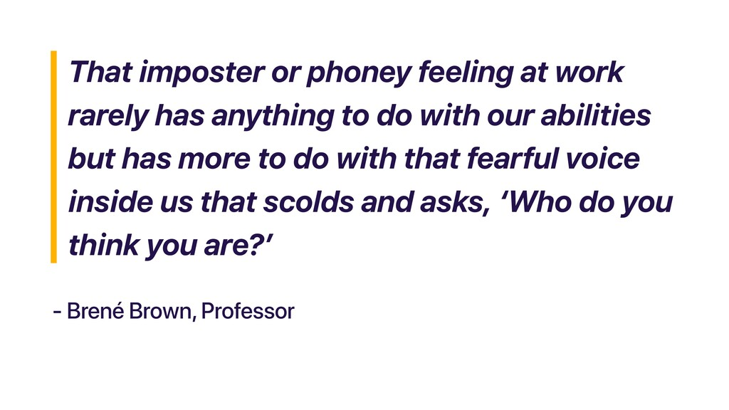 That imposter or phoney feeling at work rarely ...