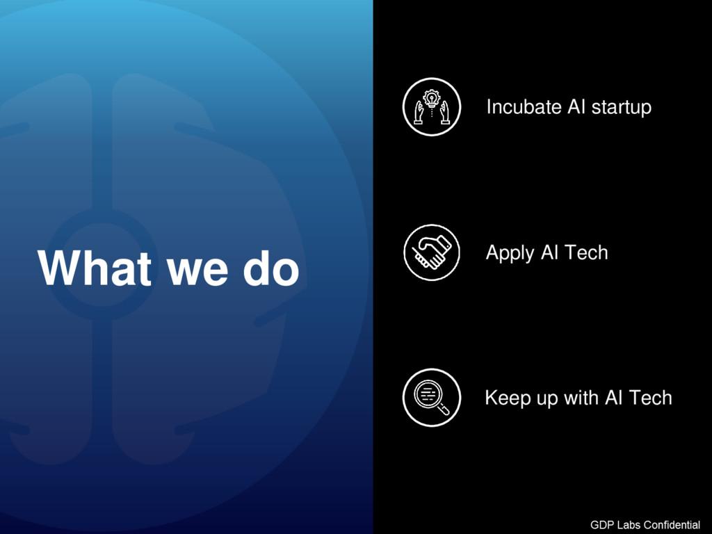 What we do Keep up with AI Tech Apply AI Tech I...