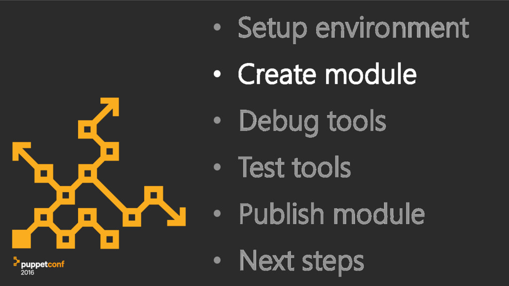 • Setup environment • Create module • Debug too...