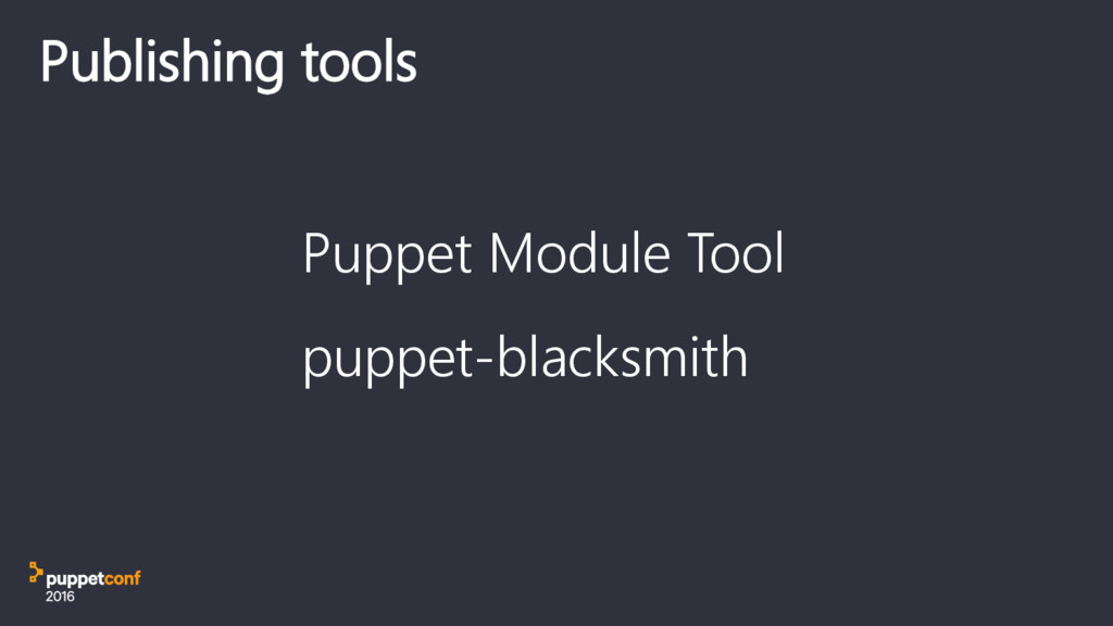 Puppet Module Tool puppet-blacksmith Publishing...