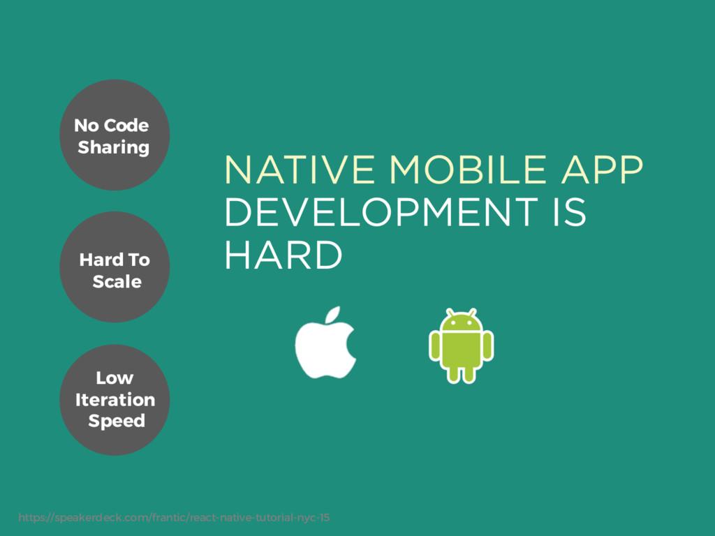 NATIVE MOBILE APP DEVELOPMENT IS HARD No Code S...