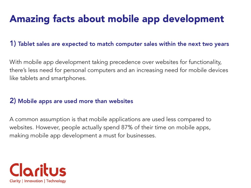 Amazing facts about mobile app development 1) T...