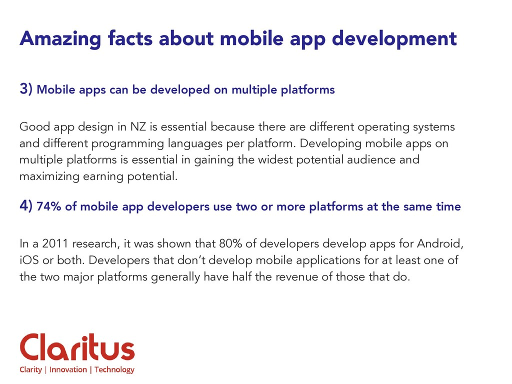 Amazing facts about mobile app development 3) M...