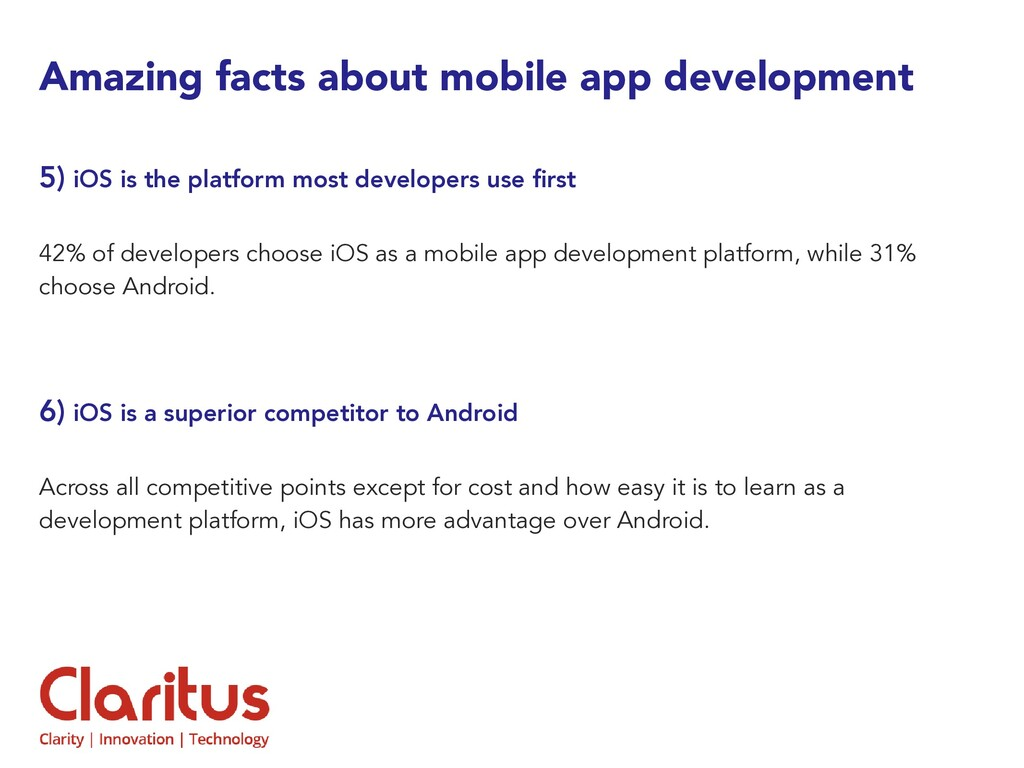 Amazing facts about mobile app development 5) i...