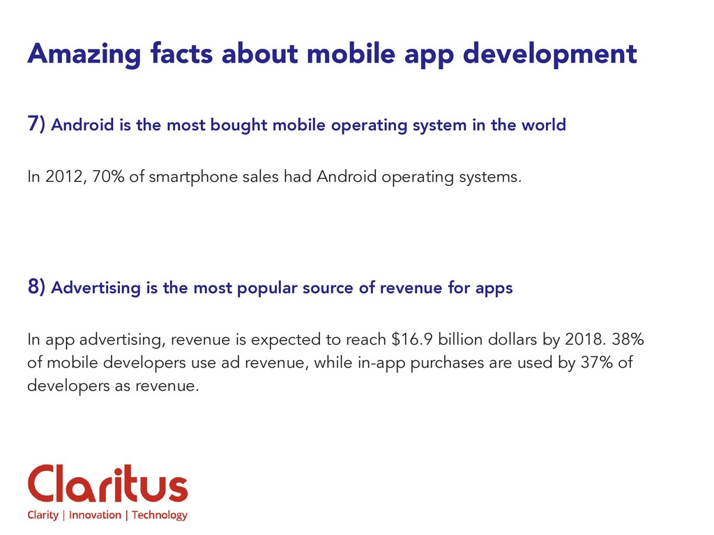 Amazing facts about mobile app development 7) A...