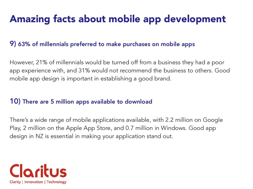 Amazing facts about mobile app development 9) 6...