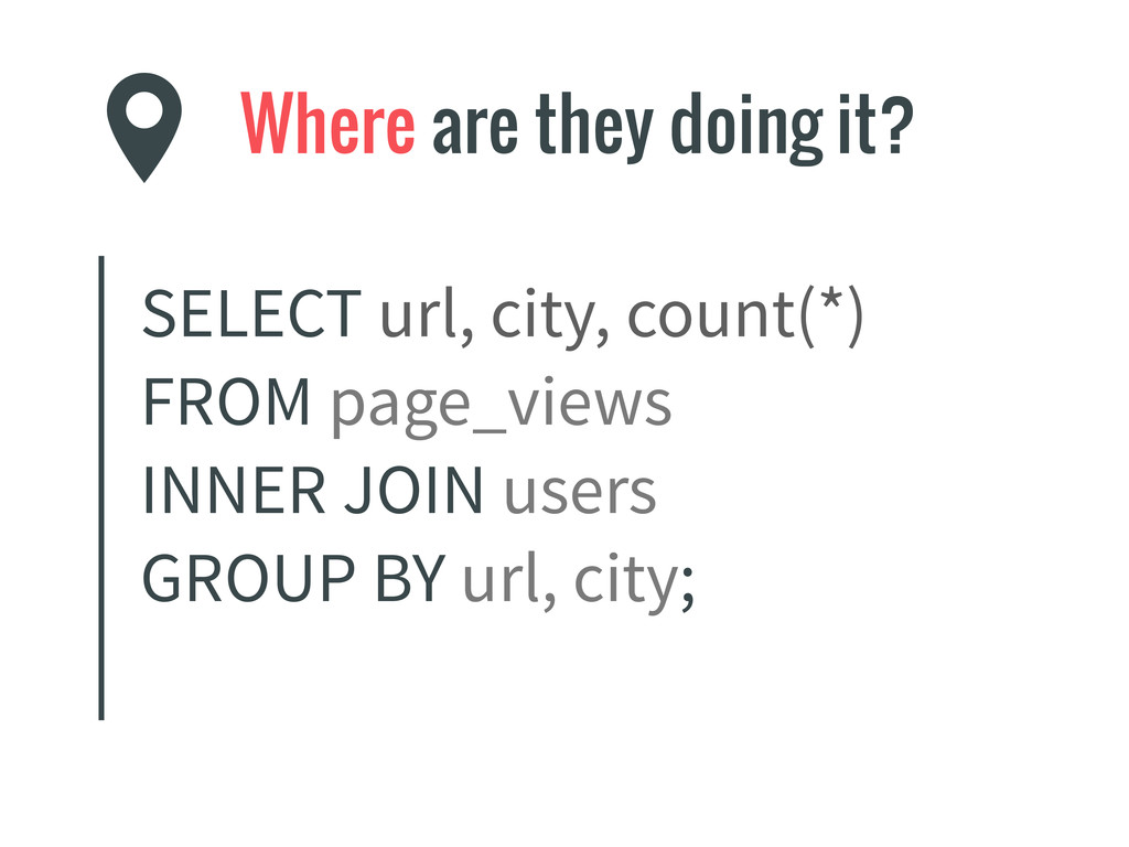 Where are they doing it? SELECT url, city, coun...