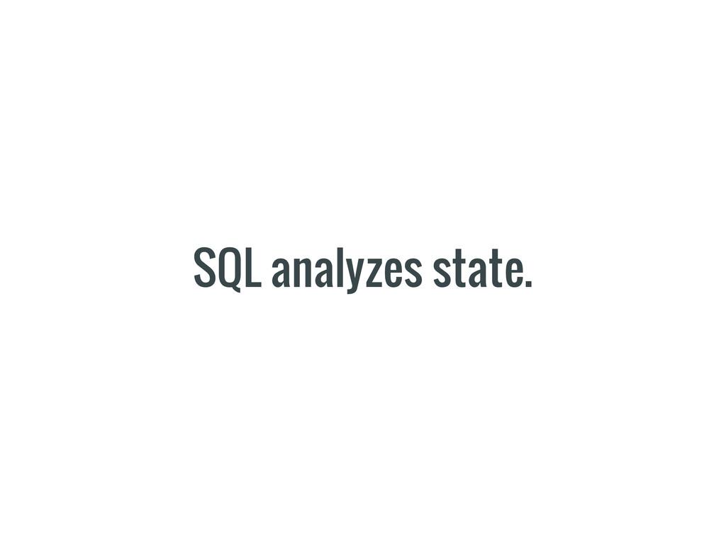 SQL analyzes state.