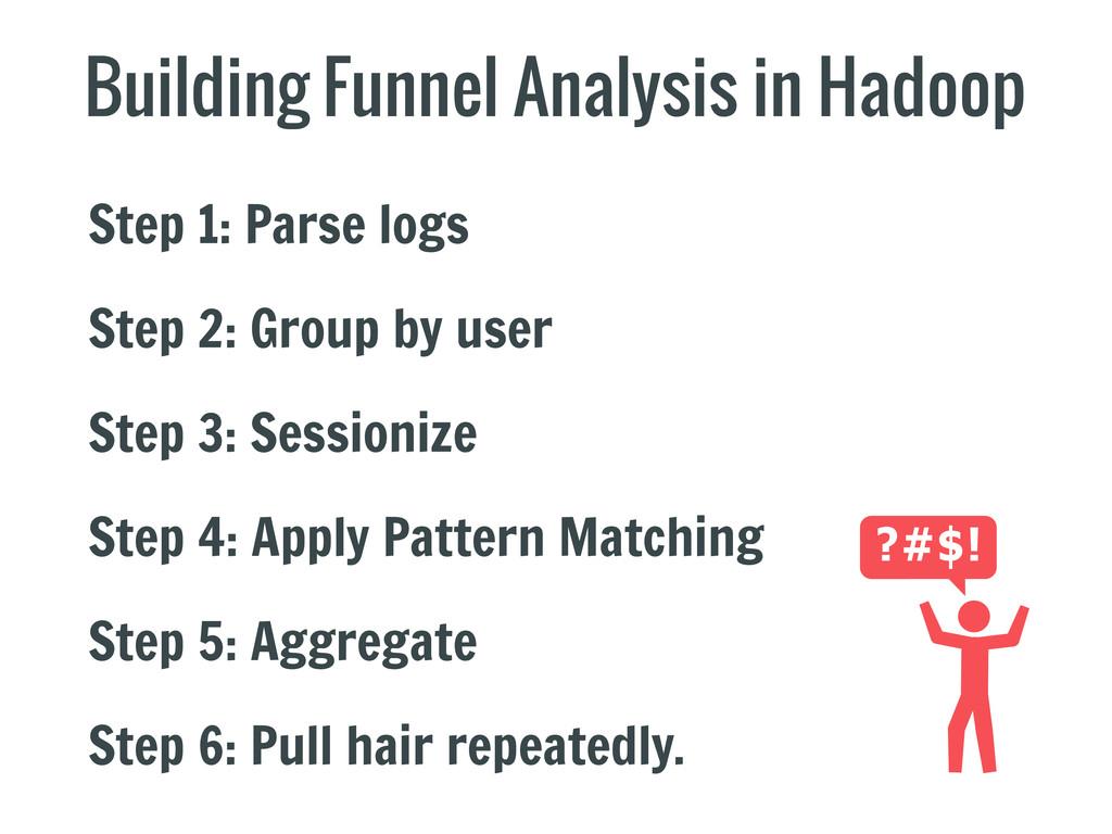 Building Funnel Analysis in Hadoop Step 1: Pars...