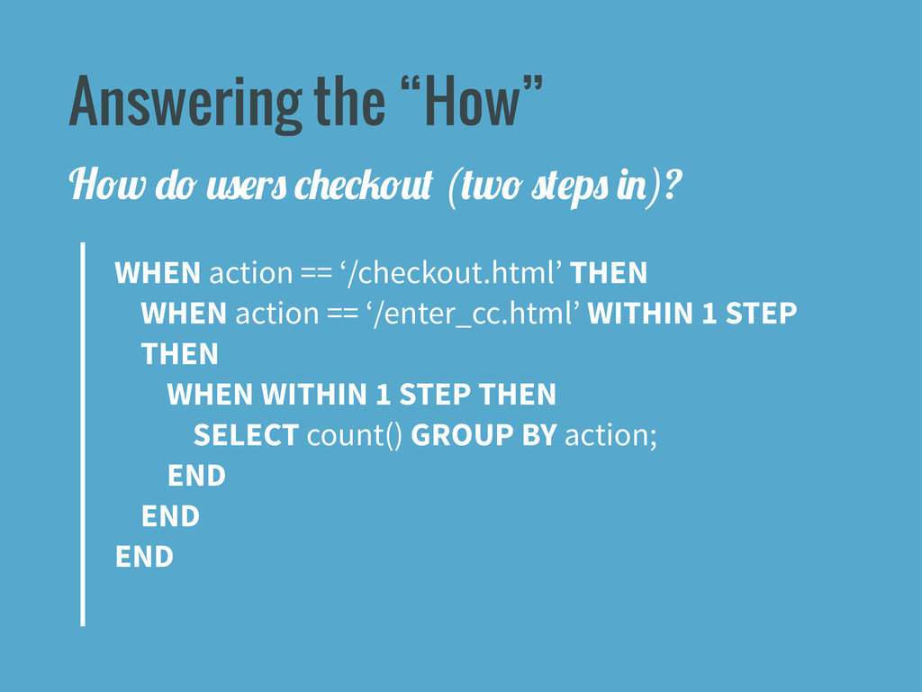 """Answering the """"How"""" WHEN action == '/checkout.h..."""