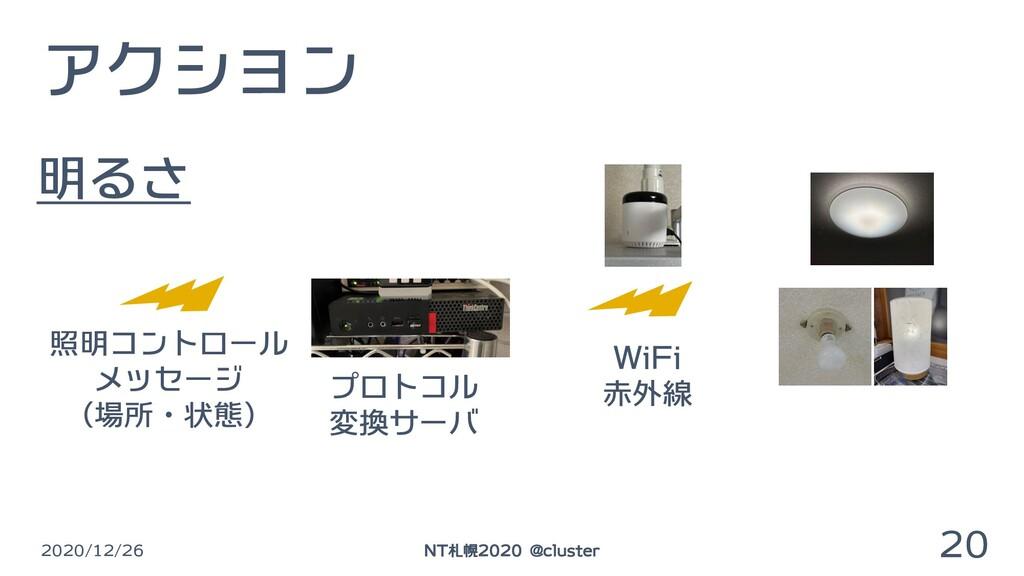 アクション 2020/12/26 20 NT札幌2020 @cluster 照明コントロール ...
