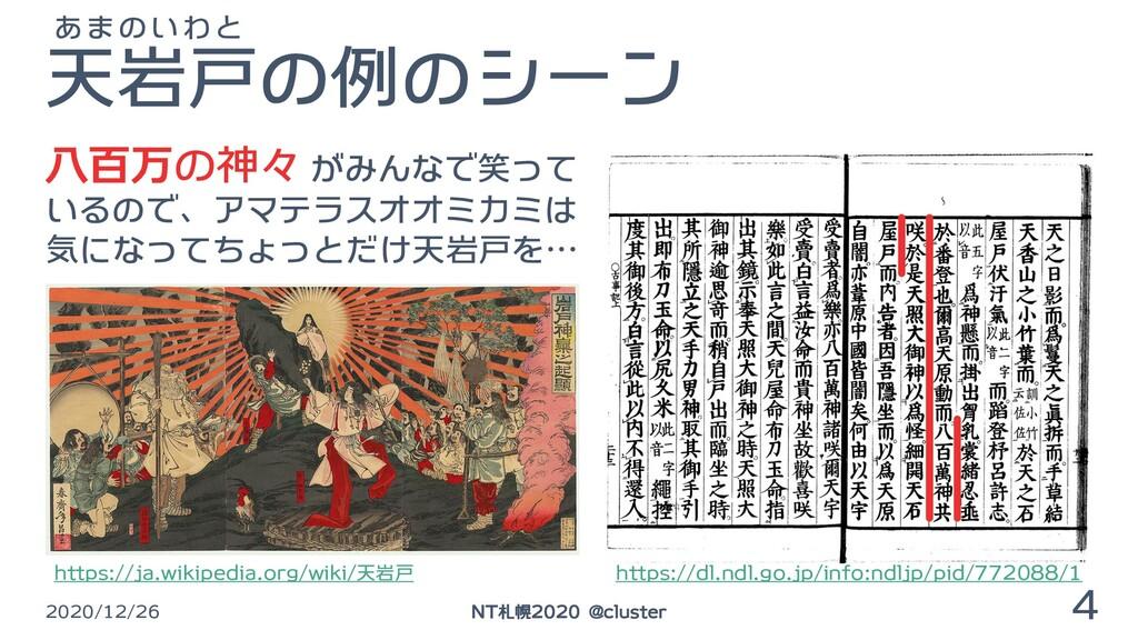天岩戸の例のシーン 2020/12/26 4 NT札幌2020 @cluster 八百万の神々...
