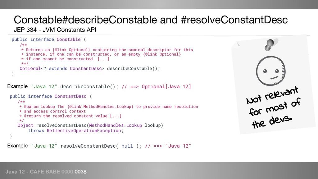 Java 12 - CAFE BABE 0000 0038 Constable#describ...