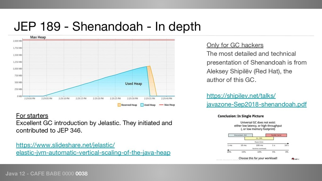 Java 12 - CAFE BABE 0000 0038 JEP 189 - Shenand...