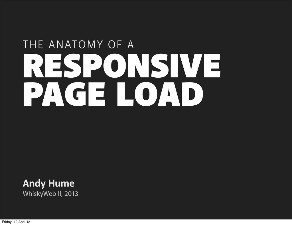 PAGE LOAD Andy Hume THE ANATOMY OF A WhiskyWeb ...
