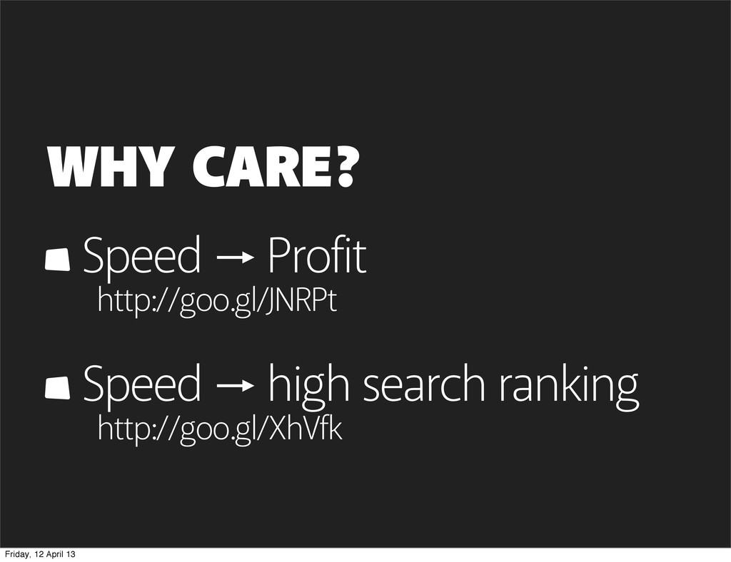 WHY CARE? Speed Profit http://goo.gl/JNRPt Spee...