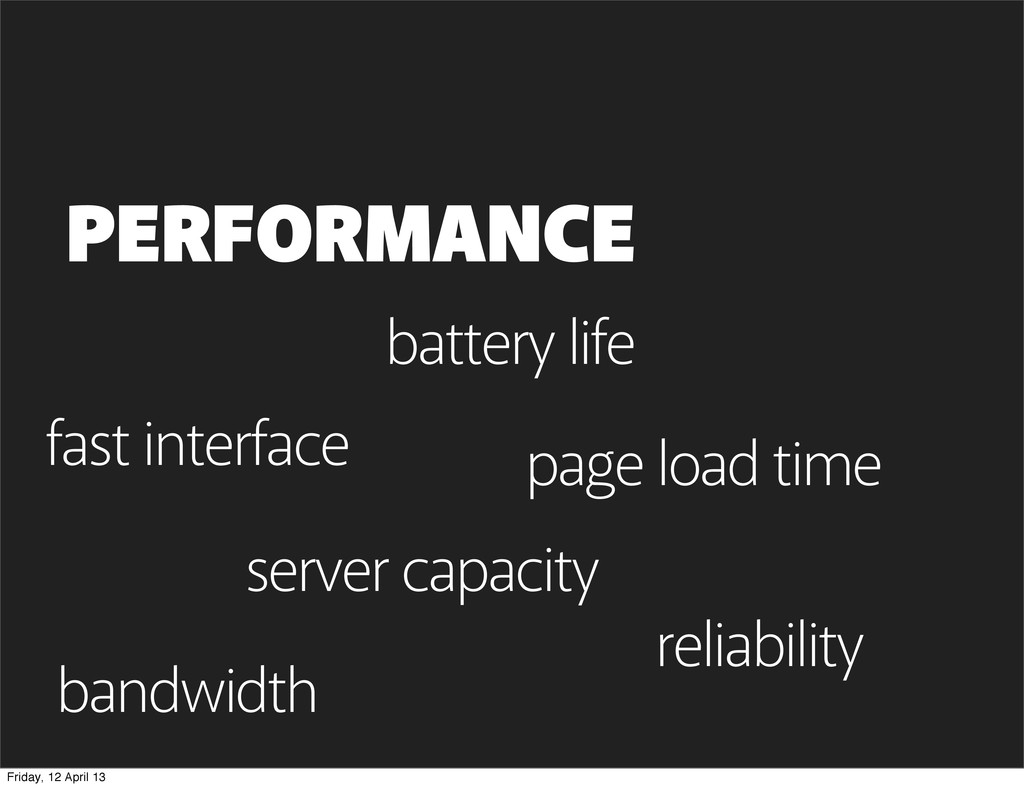 page load time PERFORMANCE bandwidth battery li...