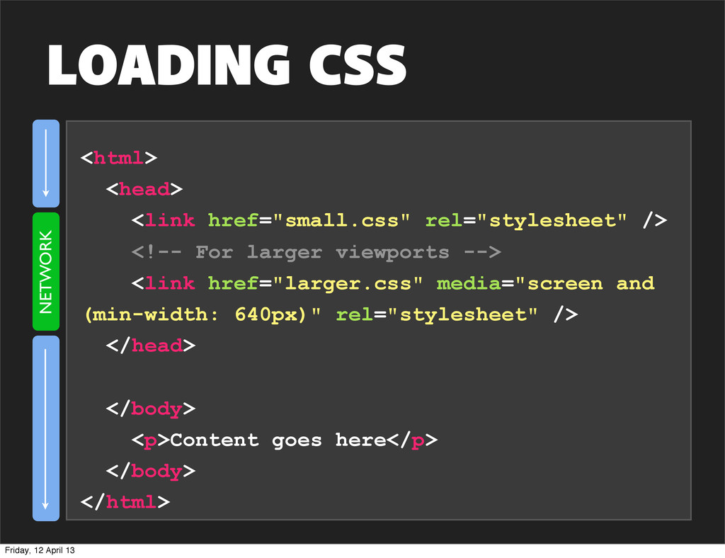 """<html> <head> <link href=""""small.css"""" rel=""""style..."""