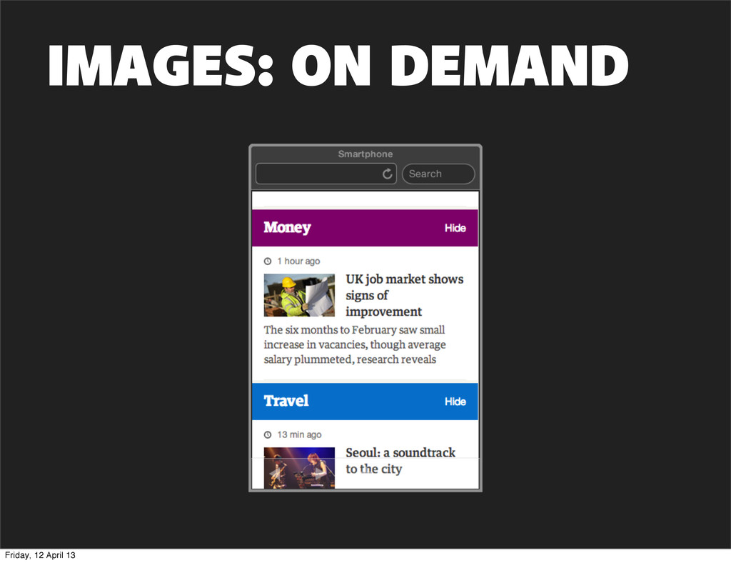 IMAGES: ON DEMAND Friday, 12 April 13