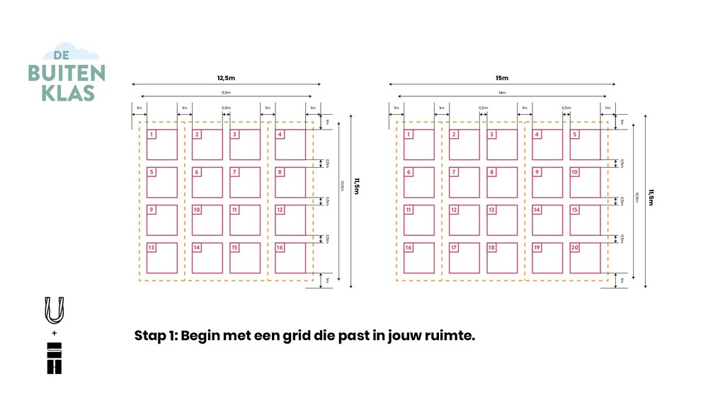 Stap 1: Begin met een grid die past in jouw rui...