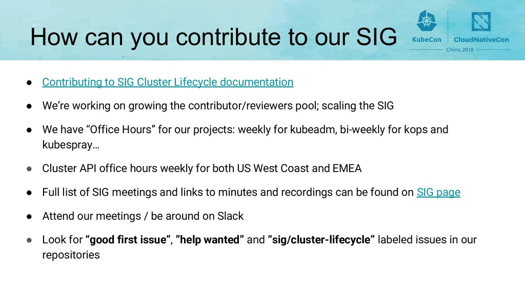 How can you contribute to our SIG ● Contributin...