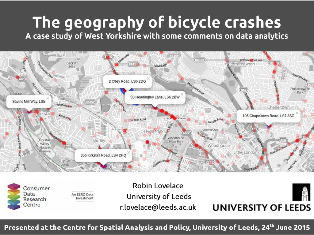 The geography of bicycle crashes A case study o...