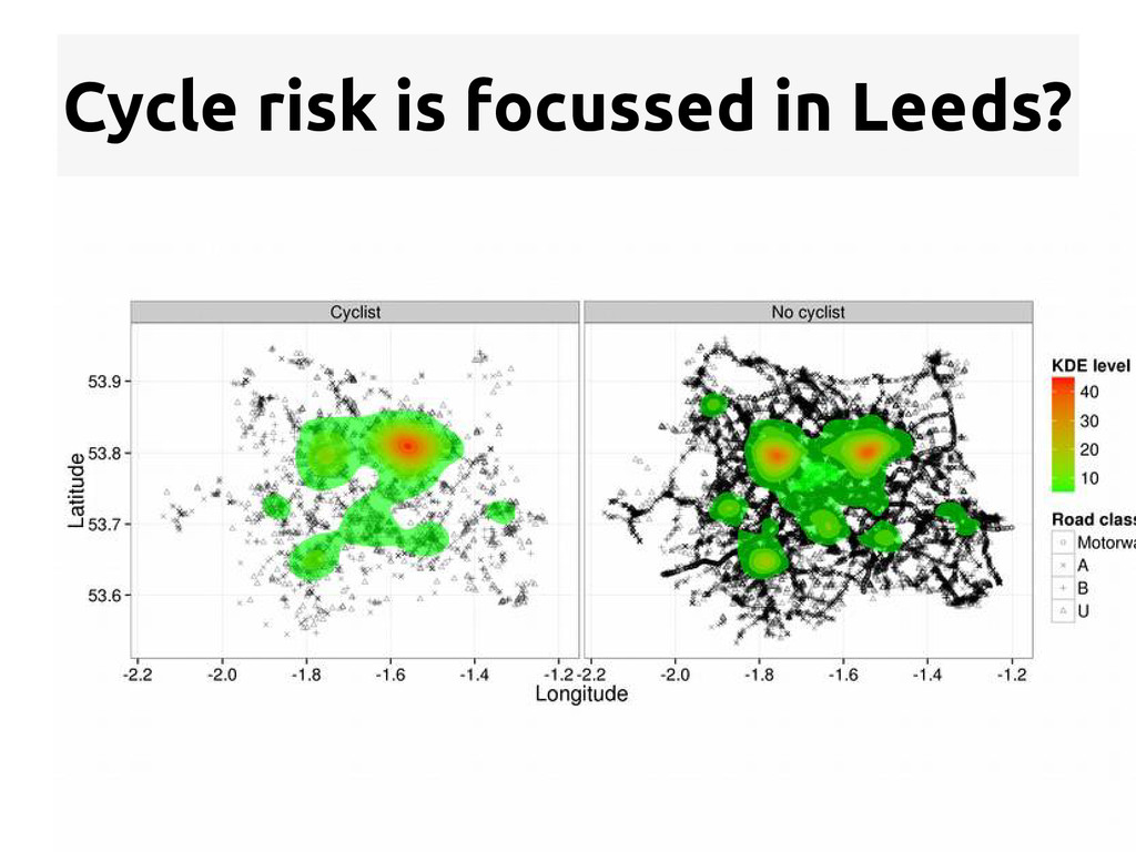 Cycle risk is focussed in Leeds?