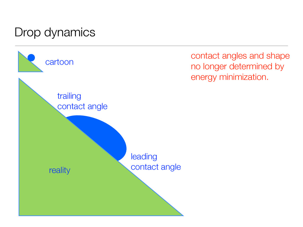 Drop dynamics cartoon reality leading contact a...