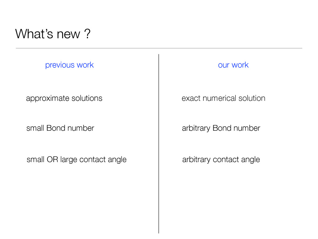 What's new ? previous work our work approximate...
