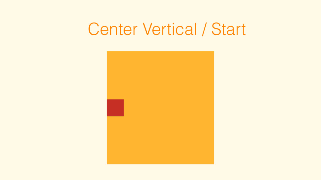 Center Vertical / Start